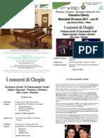 Programma Di Sala Concerti Chopin Palazzina Liberty Milano - Ligoratti Costa - 2011