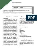 Relatório 3 - Cromatografia
