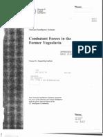 NIE 93-23/II Combatant Forces in the Former Yugoslavia Volume II