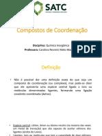 Compostos de Coordenação - Parte 1