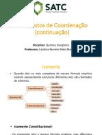 Compostos de Coordenação - Parte 2