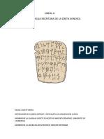 Rafael Agustí Torres, Lineal A. La antigua escritura de la Creta minoica