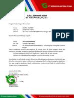 Surat Tugas Nusa Tenggara Barat