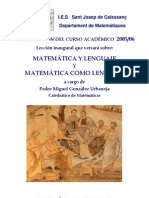 Matematica y lenguaje