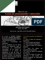 CLASE 02 y 03  PLANO DE UBICACIÓN Y LOCALIZACION