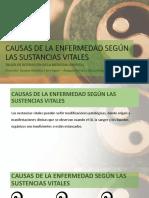 CAUSAS DE LA ENFERMEDAD SEGÚN LAS SUSTANCIAS VITALES