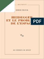[Arguments (Éditions de Minuit)] Franck, Didier - Heidegger et le problème de l'espace (1986_2016, Editions de Minuit) - libgen.lc-1