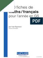 100 fiches de maths  français pour l'année en GS