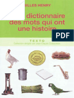 Petit dictionnaire des mots qui ont une  - Gilles Henry