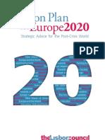 Lisbon Council Action Plan Europe 2020