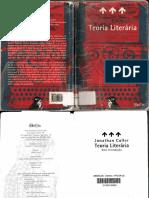 CULLER, Jonathan. Teoria Literária - Uma Introdução