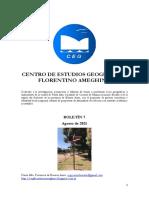Boletín 7 Del Centro de Estudios Geográficos Florentino Ameghino