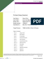 Digital Audio PLL on TSMC 0.18um Datasheet