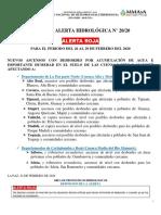 ALERTA ROJA-HIDROLÓGICA No.20 SENAMHI-24-02-2020