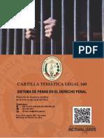 CARTILLA 160 - SISTEMA DE PENAS EN EL DERECHO PENAL