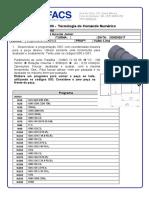 Atividade Didática 06 Tecnologia do Comando Numérico 2017.1 FEITA