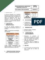 LB-FT-010 FICHA TECNICA TORTA DECANTER