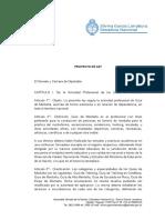 Proyecto de Ley -RÉGIMEN PROFESIONAL DE GUÍAS DE MONTAÑA