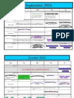 School Calendar 2010 - 11