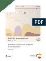 Índice de producción industrial manufacturero. Junio 2021