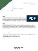 DORION, Louis-André. Discours historiques et fiction socratique (2013)