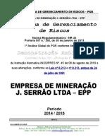 PROGRAMA DE GERENCIAMENTO DE RISCOS - PGR