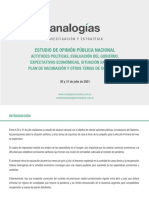 Analogías - Estudio Nacional Julio 2021