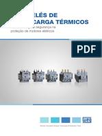 WEG Reles de Sobrecarga Termico Linha Rw 50042397 Catalogo Portugues Br Dc