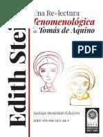 Edith Stein. Una Re-lectura fenomenológica de Tomás de Aquino