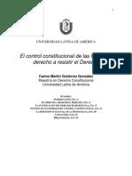 El Control Constitucional y El Derecho d