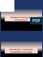 Introduction to Employee Training and Development - PPT 1