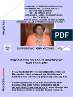 PROJECTS Presentation Support Template Chiredzi- Bernadette