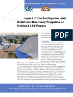 The Impact of the Earthquake, and Relief and Recovery Programs on Haitian LGBT People