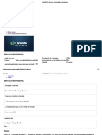 Prova Unibf Educação Profissional