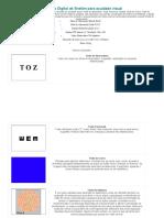 Optotipo Digital de Snellen para acuidade visual