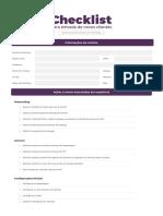 Checklist novo cliente - Desenvolvimento de site