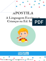 Apostila A Linguagem Escrita e as Crianças na Ed. Infantil