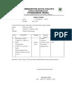 Surat tugas keuangan