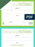 Certificat Perseverance Jps2018