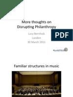 Disrupting Philanthropy March 30 2011