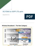 LTE SC-FDMA for upllink