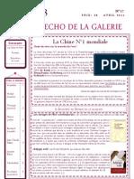 ECHO DE LA GALERIE N° 17