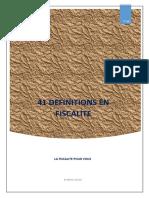 41 définitions en Fiscalité