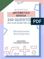Apostila 240 questões - matemática básica