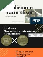 Monitoria Realismo Naturalismo