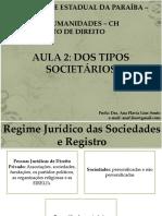 AULA 2 - DAS SOCIEDADES EM ESPÉCIE