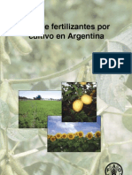 USO DE FERTILIZANTES POR CULTIVO EN ARGENTINA - FAO