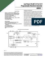 AD9833 waveform generator