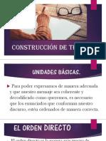 Construcción de textos 2018