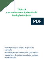 Tópico09 - Custeamento em Ambientes de Produção Conjunta